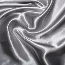 Silver Grey Satin High Sheen Fabric 0.5m